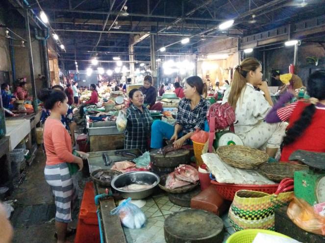 local Cambodian wet market
