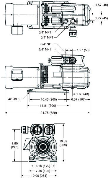 Dry Rotary Vane Electric Vacuum Pumps Series PMPHE-24