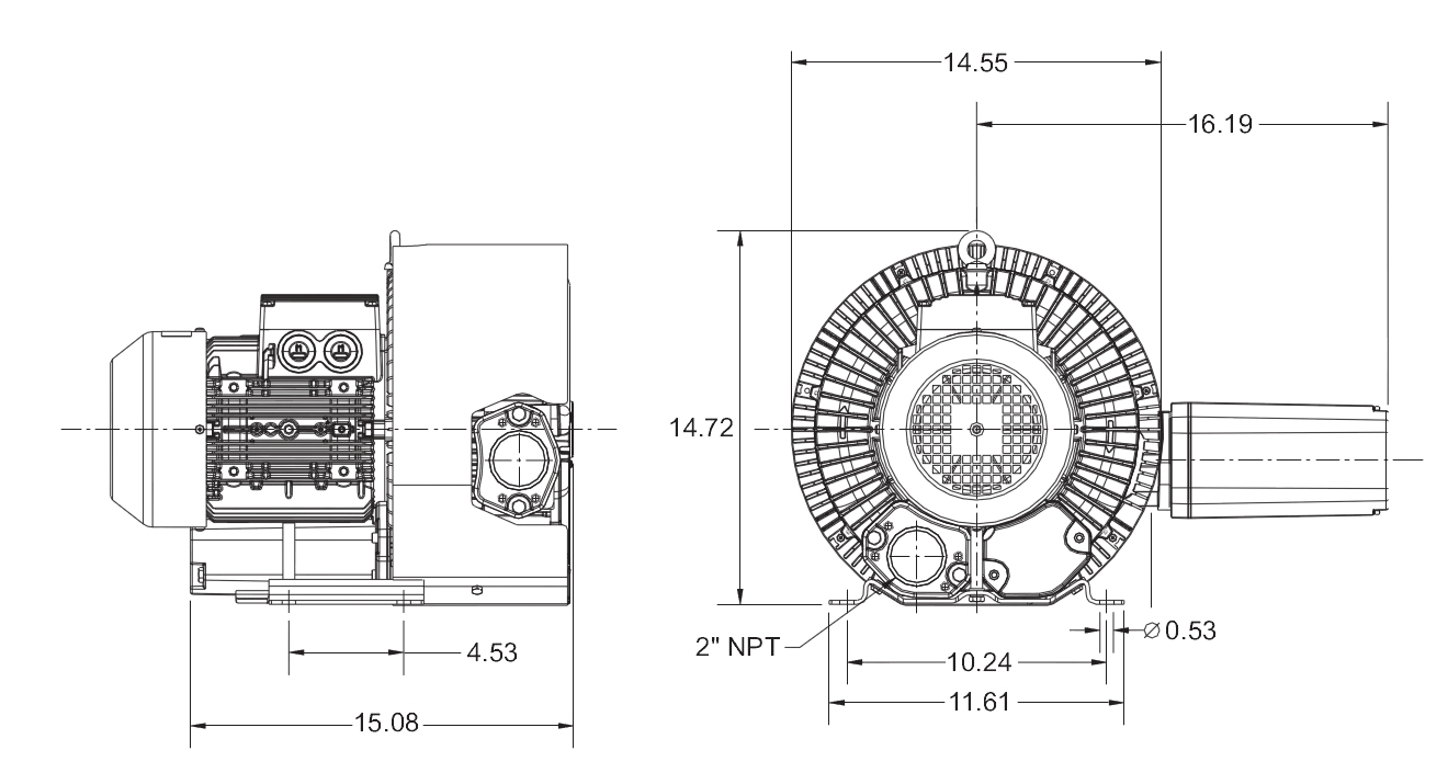 Regenerative High Vacuum RB Series Vacuum Pumps Model# RB