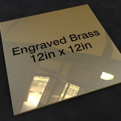 Brass 12in x 12in