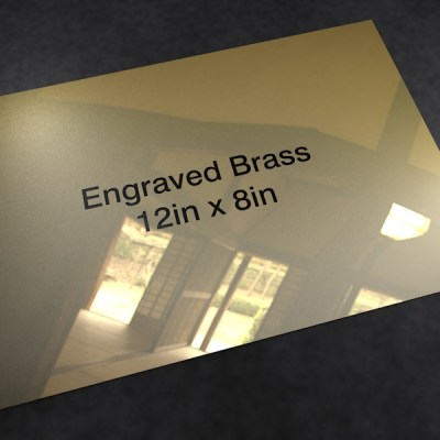 Brass 12in x 8in