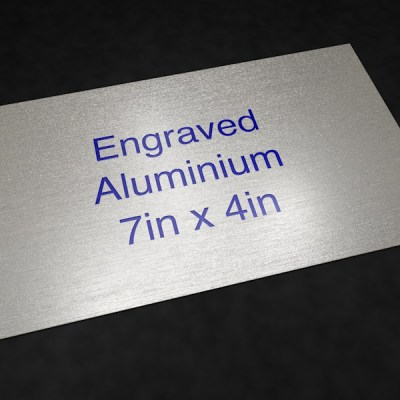 Engraved Aluminium 7in x 4in