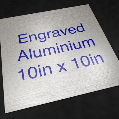 Engraved Aluminium 10in x 10in