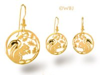 Squirrel Earrings Gold Jewelry French Curve at Animal World
