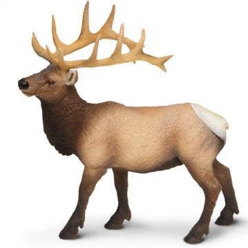 Elk Toy Miniature Replica Bull Elk at Animal World