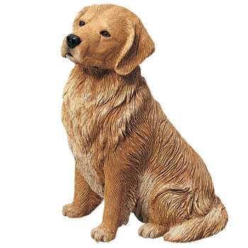 Golden Retriever Figurine Sandicast Original Size Sitting