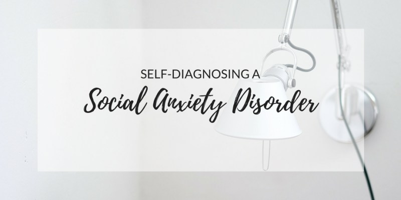 Self-Diagnosing a Social Anxiety Disorder