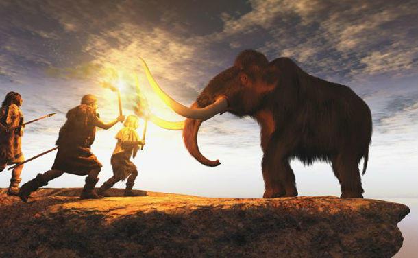 原始人の狩猟生活