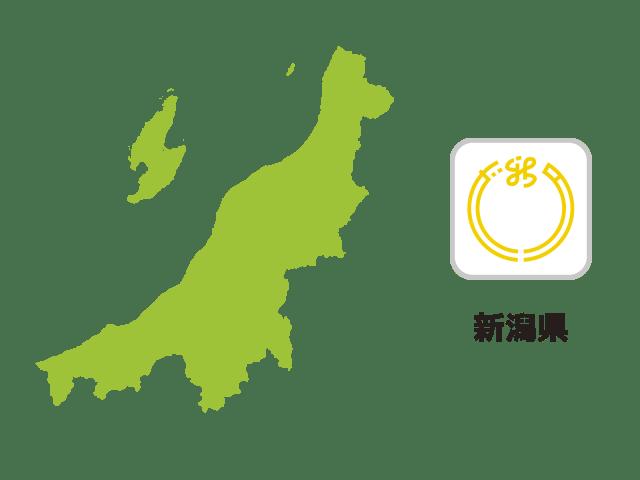 新潟県地図イラスト