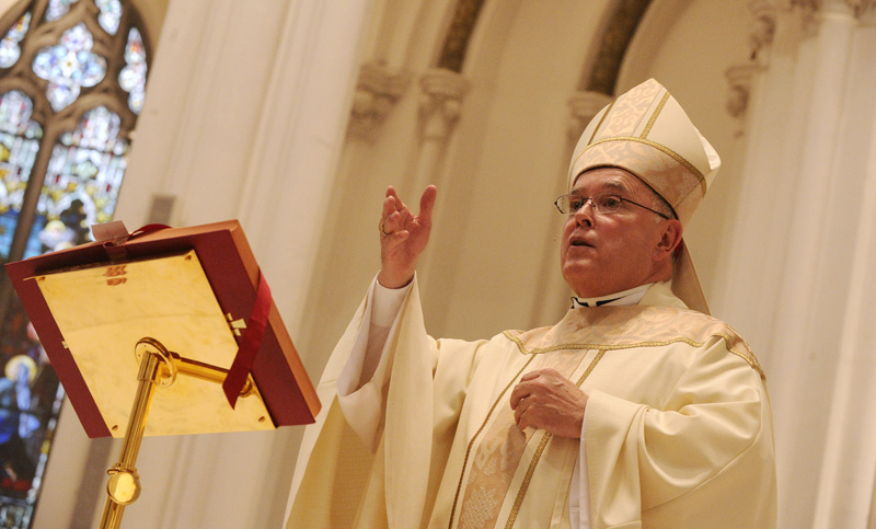 Denver Archbishop Charles J. Chaput celebrates his final public Mass in Denver on Sunday, Aug. 28, 2011, at the Cathedral Basilica of the Immaculate Conception. Chaput is moving to take over the Archdiocese of Philadelphia in September. (Daniel Petty, The Denver Post)