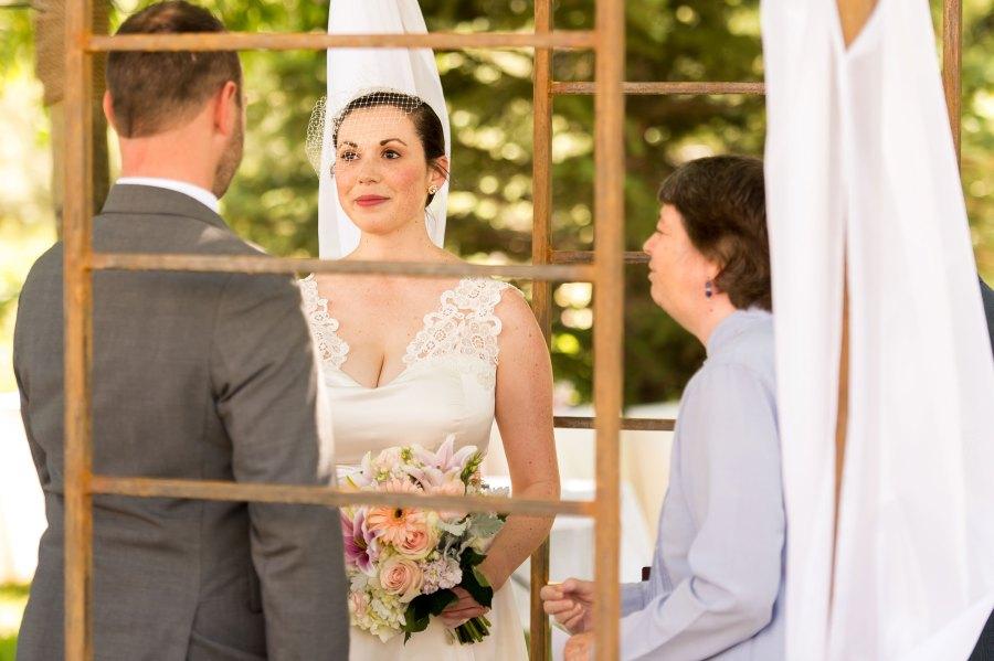 Family home wedding in Elizabeth, Colorado