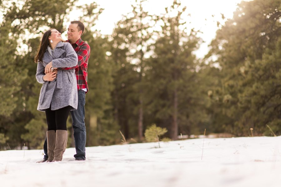 Elk Meadow Park Evergreen engagement photos with Rachel and Jeff.