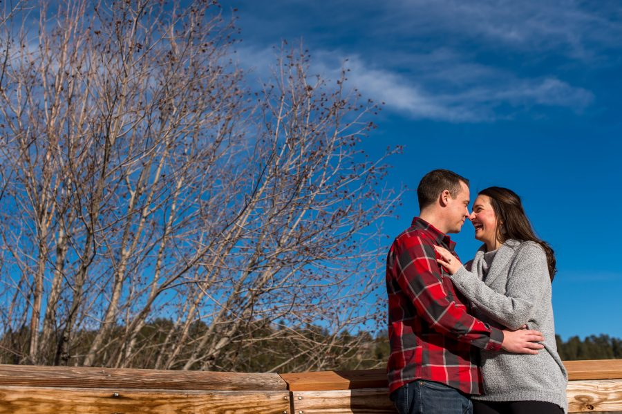 Evergreen Lake engagement photos in Colorado with Rachel and Jeff.