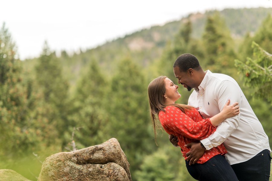 Maxwell Falls Colorado engagement photos with Jenny and Dom.