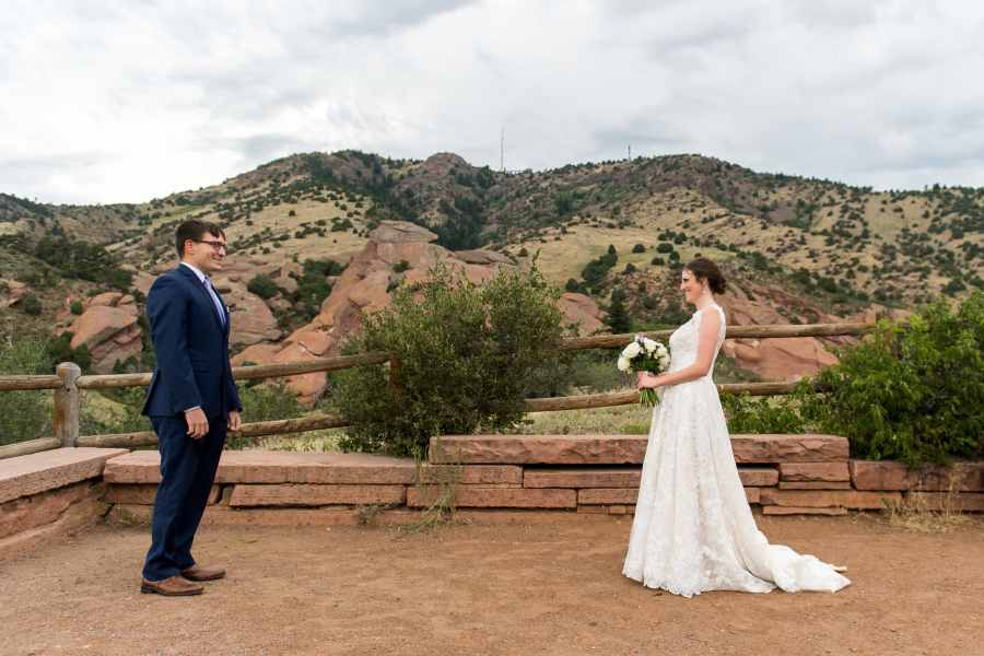 Red Rocks wedding photos at Red Rocks Park and Amphitheater in Denver, Colorado, with Stacy and Andrew.