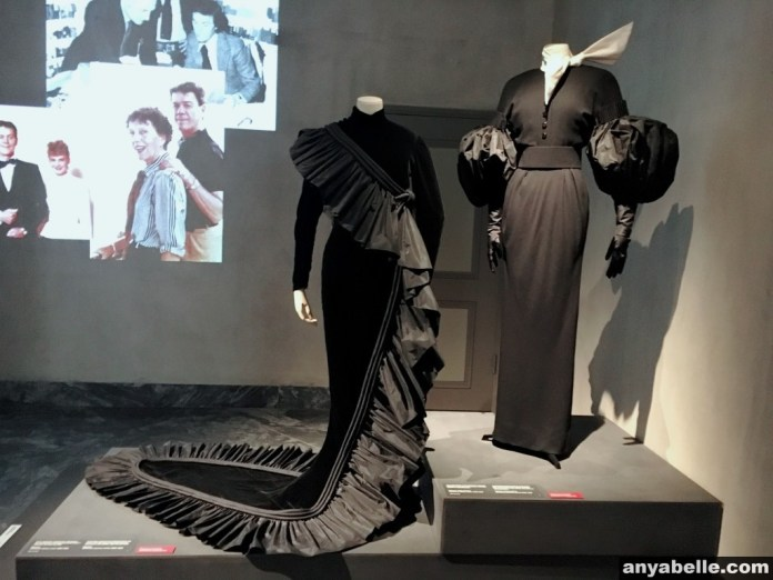 Haute couture dresses exhibited at Design Museum Danmark.