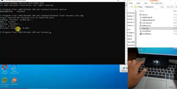 Install Proses TWRP