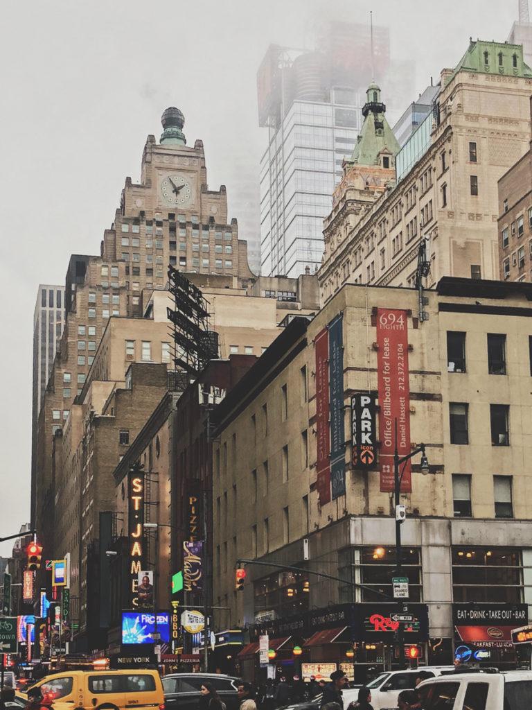 new york city in the rain