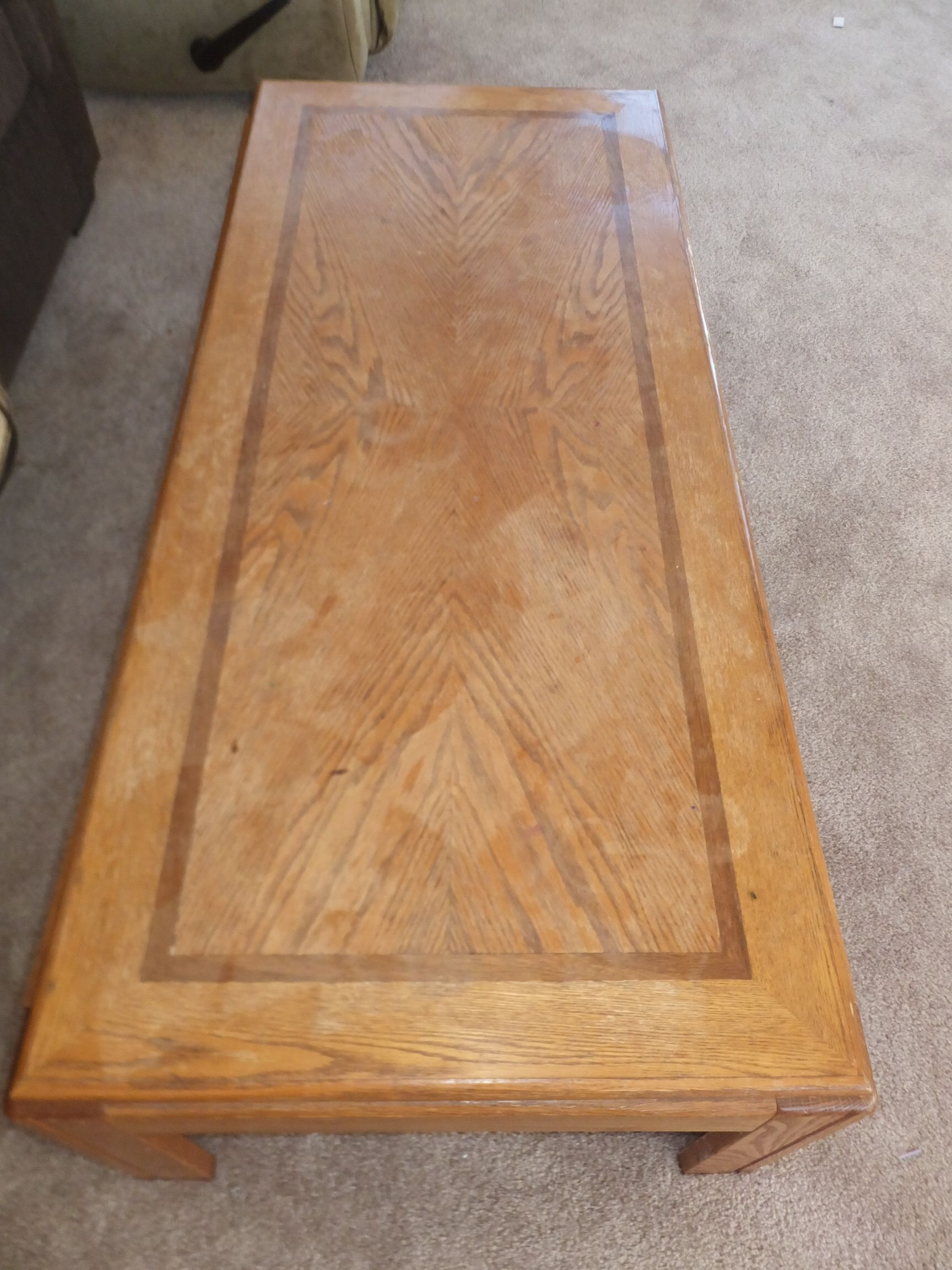 rustic oak white clad style tv stand