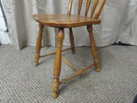 Lot Detail - MAPLE CAPTAIN'S CHAIR & SIDE CHAIR