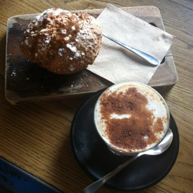 Cappuccino and banana muffin