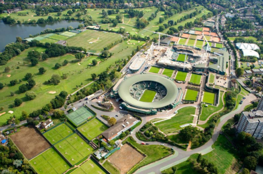 All England Lawn Tennis and Croquet vue du haut