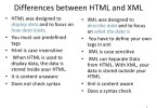 Difference Between Xml and Html