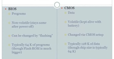 Difference Between Cmos and Bios
