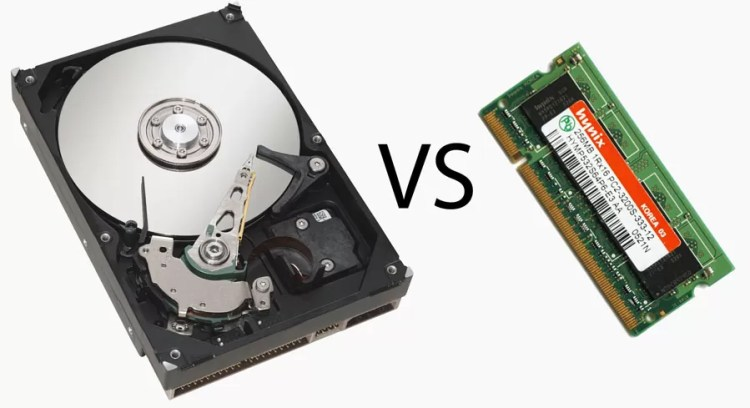 Difference Between Memory and Hard Drive