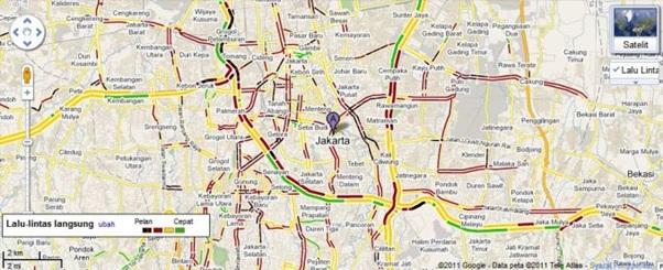 Peta Kemacetan Jakarta