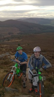 On our way up Mither Tap