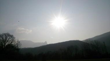 Sun was blazing!