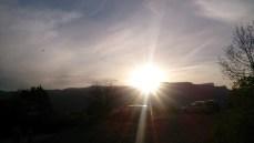 Setting sun over Le Vercors