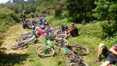 But the weather was amazing and we had a a great view down over the valley we have been riding in