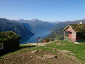 The first proper view down over the fjord as we got above the tree line, quite a spectacular start