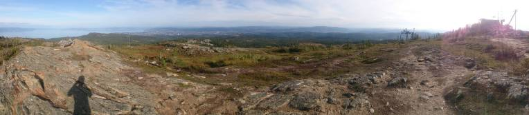 Panoramic view from the top of