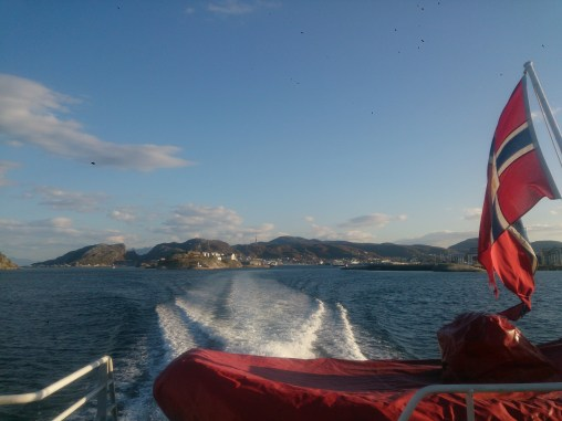 Taking the boat out to the islands, leaving the mainland behind