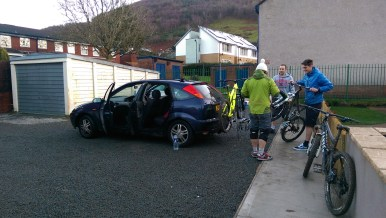 I was ever so helpful in putting the bikes on the car in the morning.
