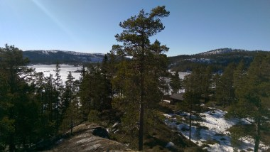 The view from the Cabin, you can just spot it in the trees below