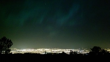 Looking back down over Trondheim