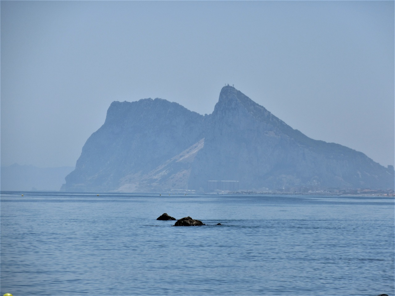 Rock of Gibraltar from Alcaidesa beach