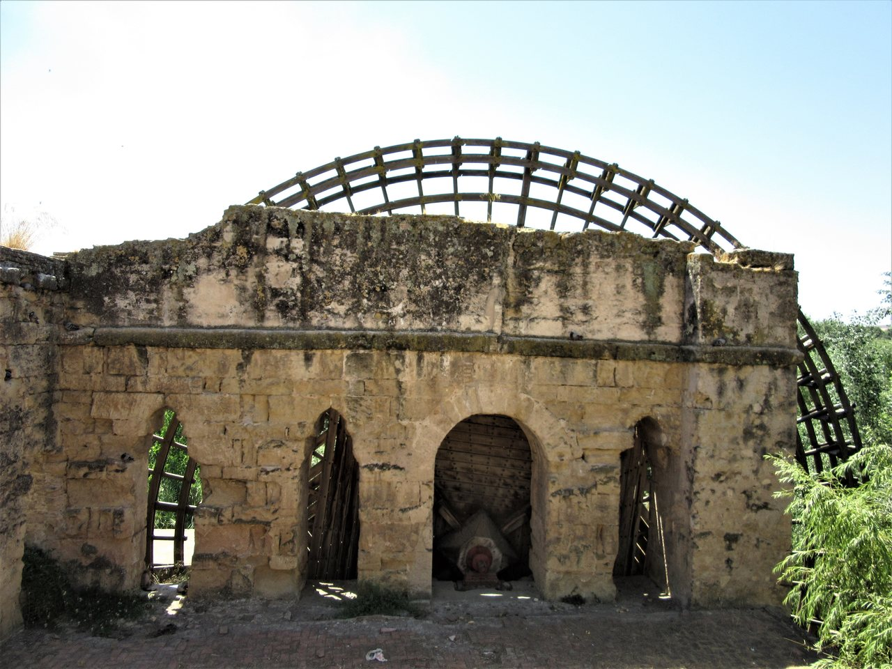 Roman water wheel in Córdoba