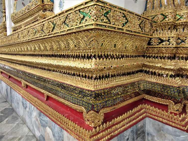 Temple wall Bangkok