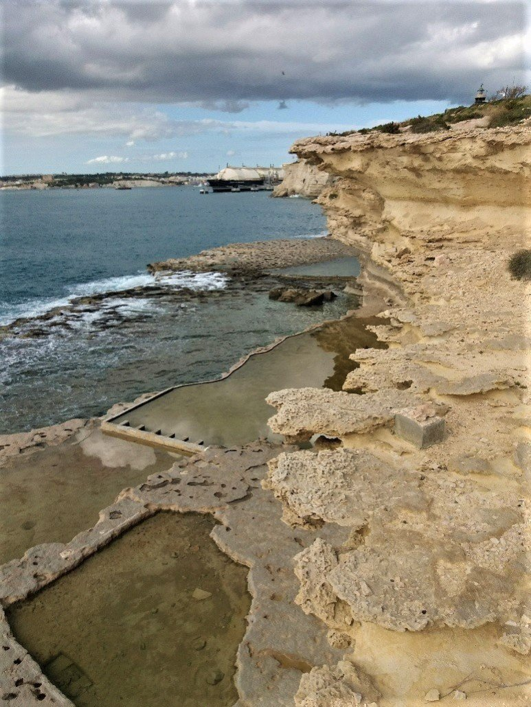 Delimara Point salt pans