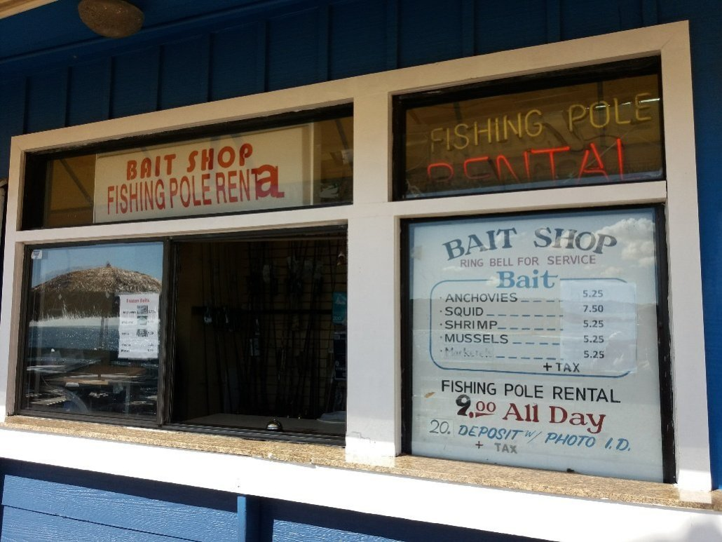 Bait shop at Redondo Pier near Torrance CA