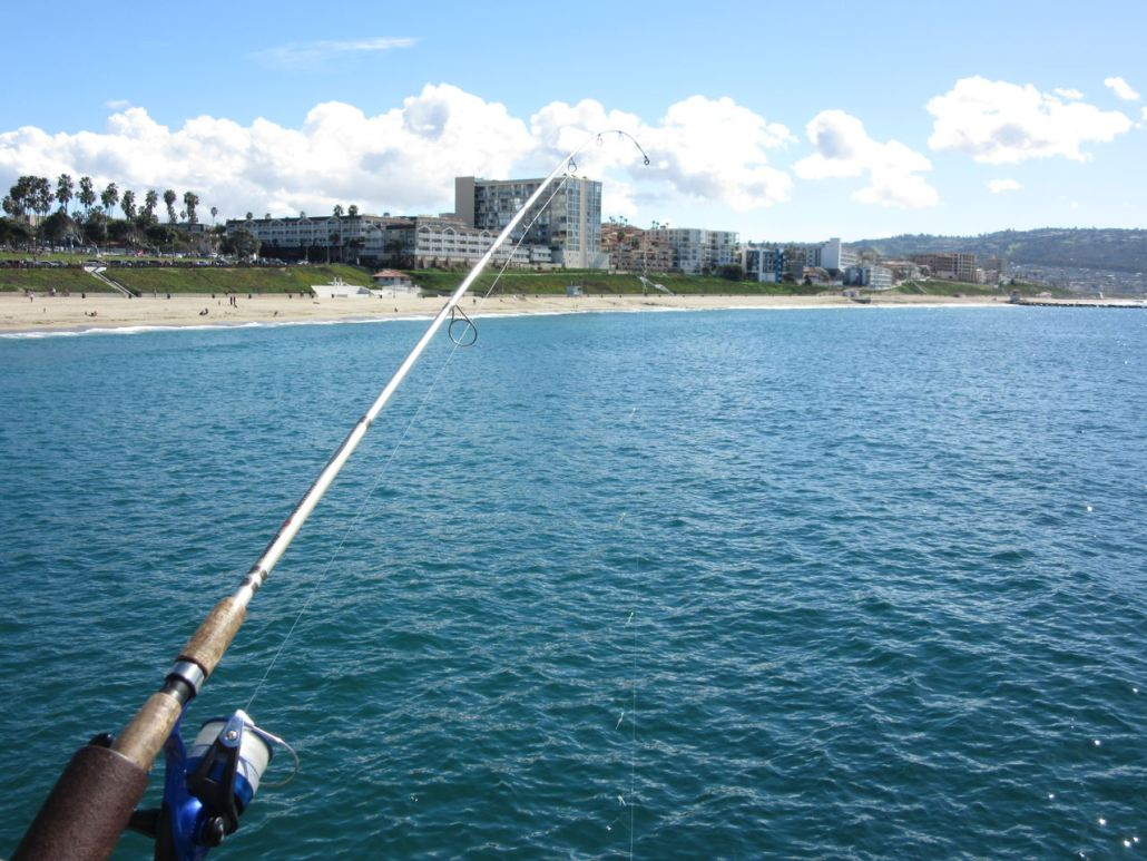 Fishing from Redondo Pier near Torrance CA