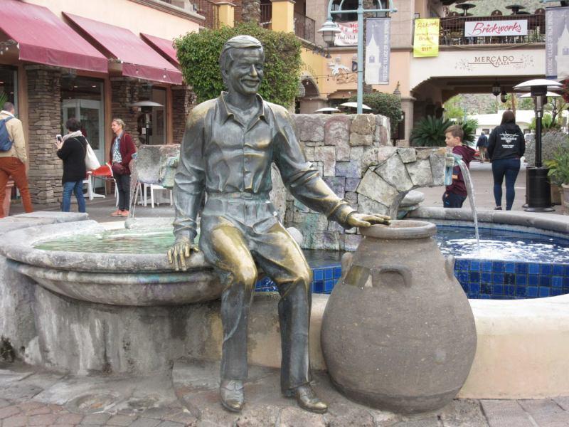 Sony Bono statue Palm Springs