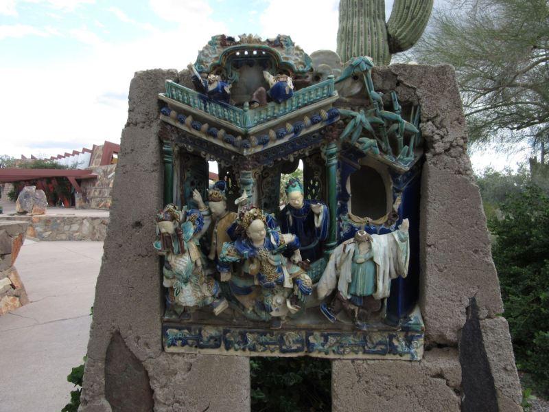 Sculpture at Frank Lloyd Wright Taliesin West Scottsdale AZ