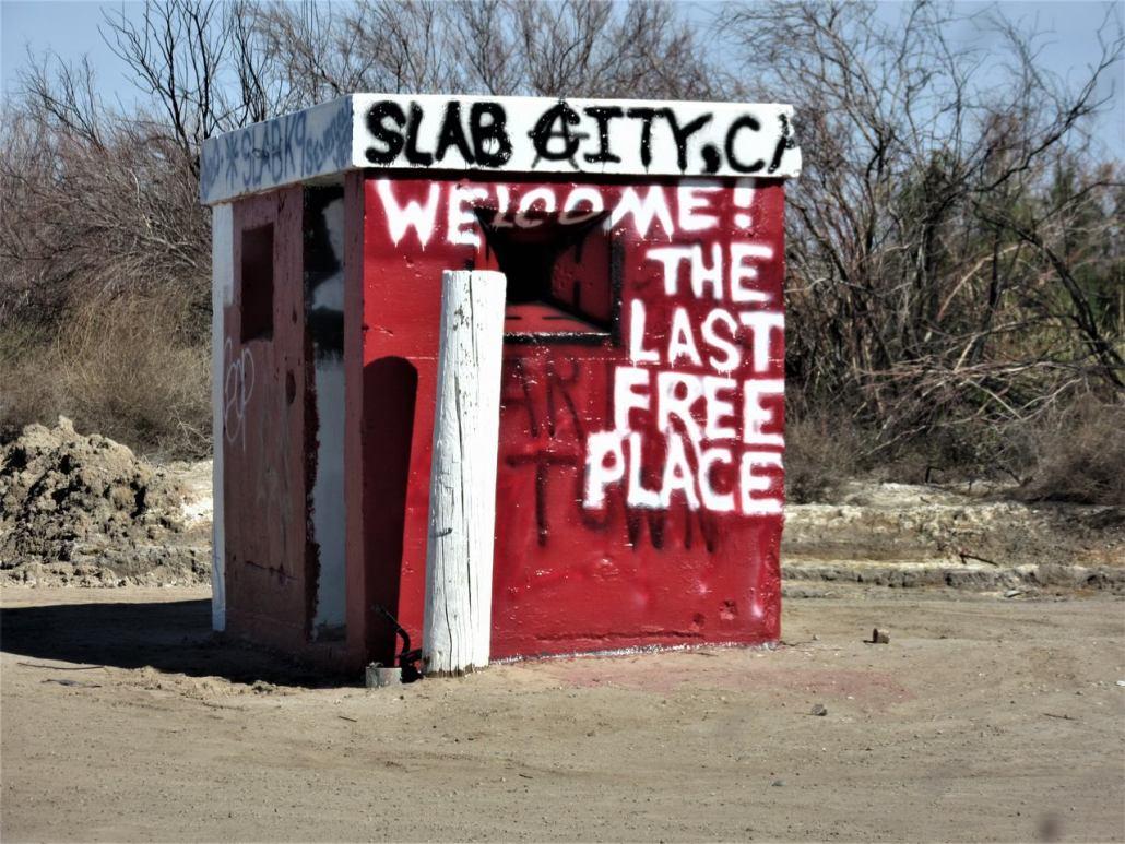 entrance to Slab City CA
