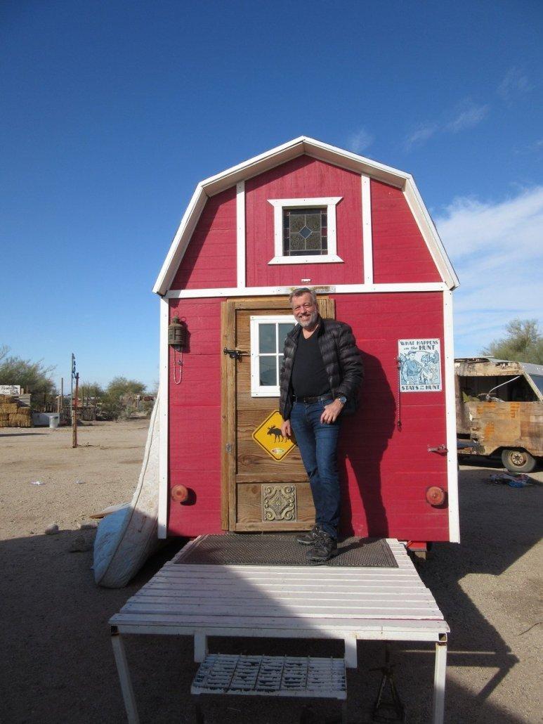 Littlest barn in the desert Slab City California Ponderosa CA